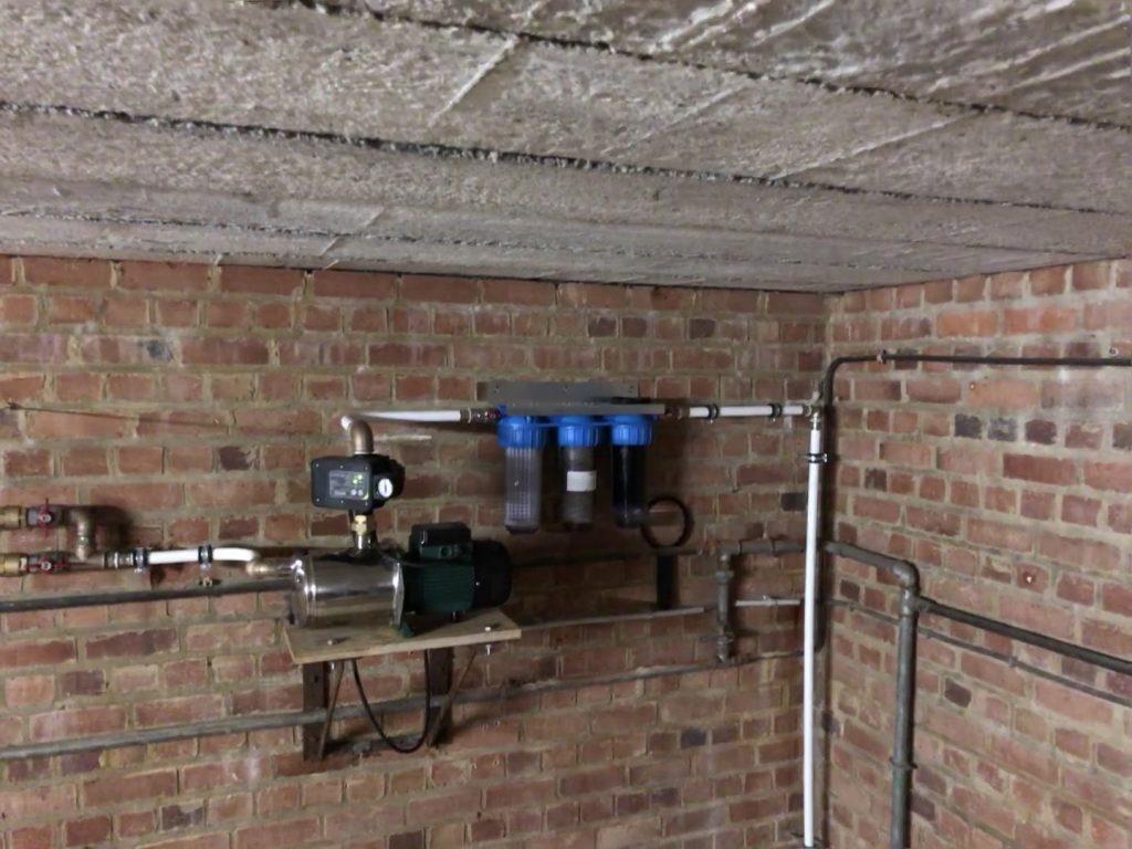 regenwaterpomp met filters