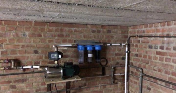 regenwaterpomp met fijnfilter